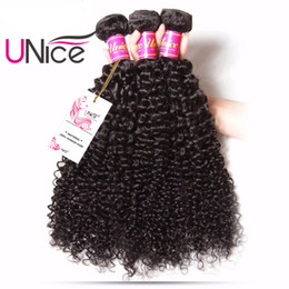 UNice Hair Brazilian Curly Wave 3 Bundles 100% Human Hair Extension Hair Weaves Wholesale Grade 8A Virgin Unprocessed Curl Wefts 8-26inch
