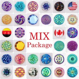 Wholesale Vocheng Noosa Clearance Sale Mix Sales bag Random Choice18mm Arcylic Snap Button Accessories Vn