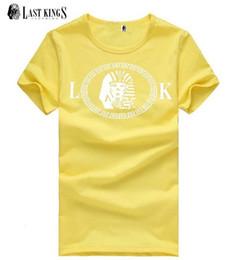 free shipping s-5xl Print Letter LK last kings brand t shirt new men's clothing hip hop top