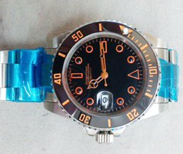 Promotion cru mens watch automatique Mens marque de luxe suisse Montres-bracelets noir PVD Acier inoxydable Boucles Vintage Faces date Mode Mans montres mécaniques automatiques pour les hommes