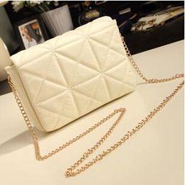 spring women should bag plaid chain clutch bag small vintage mini cross-body bag women leather handbag