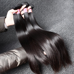 Virgin Unprocessed Peruvian Straight Hair Weaves Mink Hair Remy Human Hair Double Weft Extensions Bulk Wholesale Bellahair 8A Natural Color