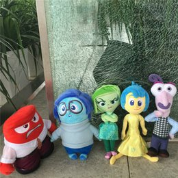 Wholesale 5Pcs Movie Inside Out Plush Toys Cartoon Sadness Fear Joy Disgust Anger Stuffed Doll Elephant animals LPS Christmas Gift