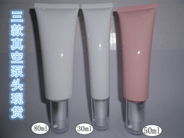 Wholesale Cosmetics hoses Foundation BB cream bottle Squeeze the bottle packaging material Vacuum pump head tube bottle series