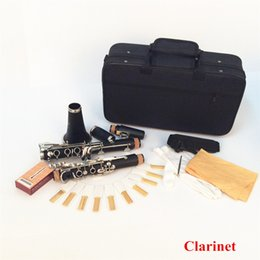 Wholesale Woodwind Instruments Clarinet Key Bb Flat Soprano Nickel Plating Exquisite with Cork Grease Cleaning Cloth Gloves order lt no track