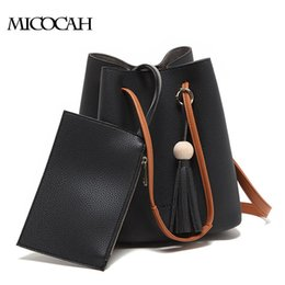 Fashion Brand Fashion Tassel PU Leather Women Bucket Bag 2016 Famous Brand Women Messenger Bags Solid Color Ladies Bag NCS052