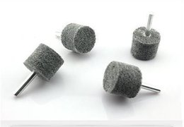 Wholesale 5pc mm Mounted Nylon Non woven Grinding Head Air Grinder Tools Furniture Metal Lines Processing order lt no track