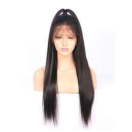 Cheap Full Lace Wigs Black Silky Straight Long Wigs for Black Women Heat Resistant Glueless Synthetic Lace Front Wigs with Baby Hair