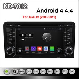 Wholesale 2 din inch Pure Android Car DVD Player GPS Radio for for AUDI A3 With Stereo Radio Bluetooth Phone Support G Internet