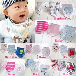 Wholesale New Arrivals set Kids Infant Newborn Baby Bandana Bibs Towel Saliva Towel Burp Cloths Cotton Cartoon Animal PX91