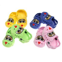 Mignon Enfants Sandales d'été Pantoufles creux Chiens design Casual Shoes Cool Kids Summer Beach Voyage Pour ZZZ * 10 supplier cute slippers shoes à partir de pantoufles chaussures mignonnes fournisseurs