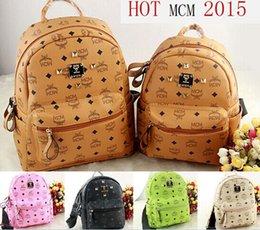 Wholesale MCM bags High quality PVC Classic brand designer mcm bag Designer Handbags fashion casual printing backpack children backpacks W160