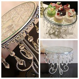 Wholesale Top Sale Beautiful Cake Stands Plate For Wedding Birthday Home Hotel Party Table Decoration Crystal Metal Wedding Dessert Suppliers