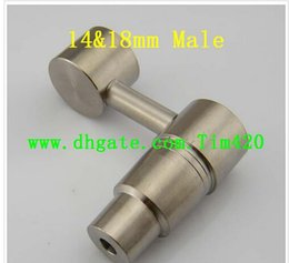 In Stock !2015 New 14mm&18mm Titanium Nail Male and Female Domeless Titanium Nails Ti Nail Domeless Nail