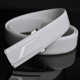 Personality strap cowhide current male paragraph of casual leather waist belt White Black belts for men smooth fashion belt