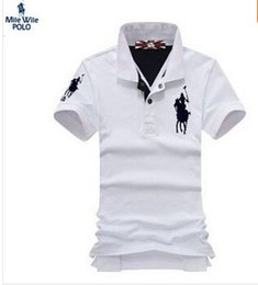 Wholesale New free POLO cotton High quality men polo shirt slim men solid casual polo shirts Embroidered Letter Offset printing