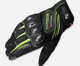 2015 spring and summer KOMINE GK 167 motorcycle gloves breathable dry leather carbon fiber 3D knight riding gloves Have 3 colors size M L XL
