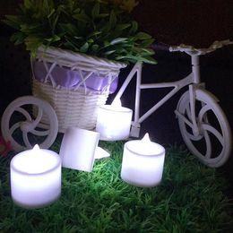 Velas de cumpleaños barcos en Línea-24pcs LED velas decoraciones de Navidad envío libre LED boda de la fiesta de cumpleaños Día Tealight Tea Candle Light Batería de San Valentín - 0001CHR