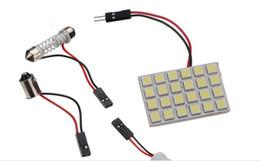 Wholesale 10set SMD LED Car Panel Light Interior Room Dome Door White Bulb Adapter DC V Lamp