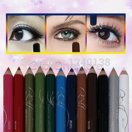 Wholesale-HOT sell 2015 new fashion EZI - Pro 12 Color Mini Eyeshadow Eyeliner Liner Pencil Cosmetic Makeup Set free shipping
