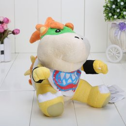 Wholesale 2pcs New Super Mario Bros quot Bowser JR soft Plush Stuffed Figure Toys opp Retail plush toy Bowser baby