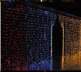 Wedding background of window decoration waterproof outdoor LED twinkle light LED holiday lights string of 3M*3M300LED curtain light