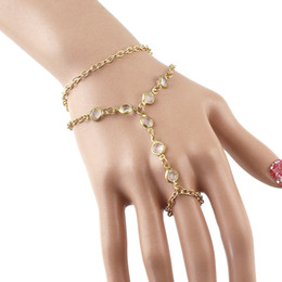 Wholesale Pulseira Ouro Slave Bracelet and Bangles Created Crystal Bijoux For Women Fashion Design Double Layer Bracelet
