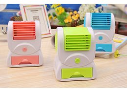 Wholesale 2015 hot selling Portable Hand held USB Mini Cool Fan with two outlet Air Conditioning home Appliances with fragrance ice slot DHL free