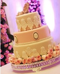 Wholesale ZSP10199 metal glass mirror with diamond cake table cake pan cake rack baking wedding decoration