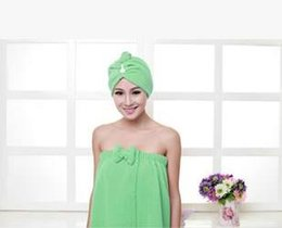 Wholesale Best selling beautiful korean bra superfine fiber bath towel with a coked hat which is popular with all of the world