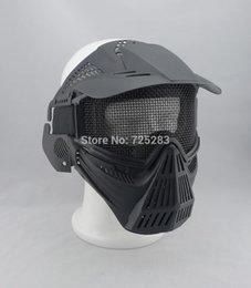 Descuento proteger a paintball Al por mayor-Cráneo Airsoft Paintball del ARMA del BB Caza Juego de Guerra Proteger guardia PROTECCIÓN máscara # 2