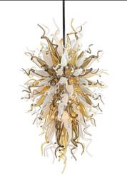 100% Mouth Blown CE UL Borosilicate Murano Glass Dale Chihuly Art Murano Glass Chandelier Fiber Optic Ceiling Light