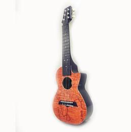 Gros-Super-dur ABS Tenor Imprimé Guitarleles 28 pouces Mini Petite Guitare Ukulélé 6 cordes Petite Guitare Voyage APL-28-7 Hot super string guitars deals à partir de guitares à cordes de super fournisseurs