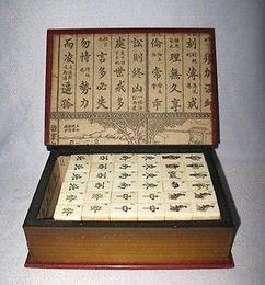 Wholesale Beautiful Mah Jong Set in Leather book Box Tiles Tiles Mah Jong