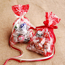 Red Christmas Cookie Bags Packaging Bags Gift Bag Christmas Cookie Plastic Bag Biscuit Bags Packaigng Bag Food Containers