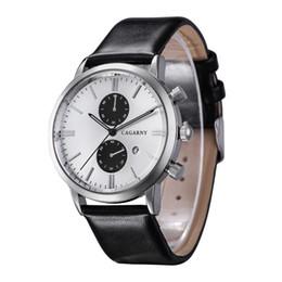 Wholesale 2015 New Fashion Auto Date Men Leather Strap Watches Mens Brand Famous Military Sports Quartz EA Watch Male Clock