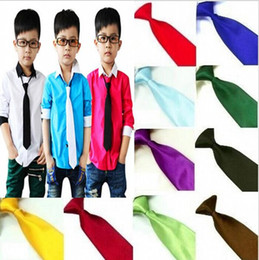 Hot Sale Kids Fashion Accessories Boys Neck Silk Ties Baby Neckties For Wedding and School Free Shipping