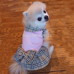 Wholesale designer dogs clothes brand print BR pets doggie dress dog products pink XS XL new arrival