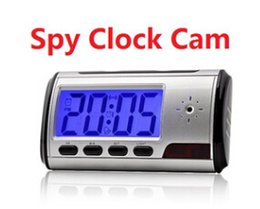 Clock spy camera Spy hidden watch camera sliver Clock High-definition HD 1.3M With Remote Control coolcity2012