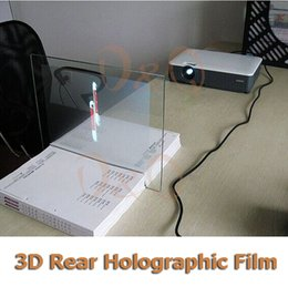 Wholesale D Holographic Projection Film Adhesive Rear Projection Screen A4 Size Piece