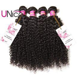 UNice Hair Peruvian Curly Wave 3 Bundles Hair Weaves 100% Virgin Human Hair Extension Unprocessed Wholesale 8-26inch Peruvian Bundle