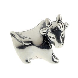 Beads Hunter Jewelry Authentic solid 925 Sterling Silver Running of the Bulls Charm big hole s925 bead For 3mm European Bracelet snake chain