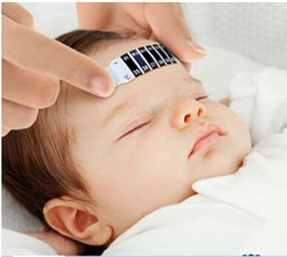 Wholesale Baby thermometer digital forehead thermometer Strip Sticker no battery no mercury non toxic reusable