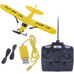 Wholesale HL803 gull CH RC IR airplane Gyro super glider EPP J3 CUB Air Sailer