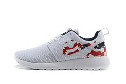 Wholesale New Roshe Run USA Flag Mens Running Shoes Roshe One American Flag Mens athletic shoes mens sports shoes US