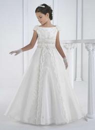 2015 first communion dresses floor length princess white flower girl dresses girls white communion dresses vestidos de comunion
