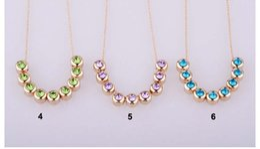 Promotion colliers de perles 30 pcs New Style 9 Collier Perles de Cristal accessoires de bijoux pour les couleurs Cadeau de Noël Femmes Livraison gratuite
