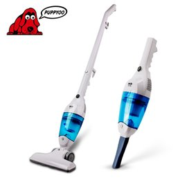 Wholesale New Ultra Quiet Mini Home Rod Vacuum Cleaner PUPPYOO WP3006 Portable Dust Collector Home Aspirator White Blue Color cleaner