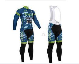 Wholesale-2015 Hot Sale Winter Thermal Fleece Cycling (bib)Kits Long Style Cycling Jersey+(bib)Pants Bike Cycling Clothing Free Shipping