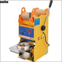 Wholesale Xeoleo Digital manual taza de sellado de la máquina de mm de burbujas té taza de sellador Bubble Tea Machine V V